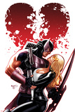 Hawkeye & Mockingbird No.6 Cover: Hawkeye and Mockingbird Hugging Prints by Paul Renaud