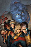 Genext: United No.1 Cover: Beast, No-Name, Rico, Raven, Olivier, Rasputin, Pavel, Munroe and Becka Posters by Alex Garner