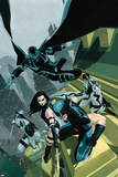 Uncanny X-Force No.1 Cover: Wolverine, Psylocke, Deadpool, Fantomax, and Archangel Posing Plakat autor Esad Ribic