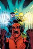 New Avengers No.3 Cover: Wolverine, Dr. Strange, and Iron Fist Screaming Prints by Stuart Immonen