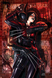 X-Force No.9 Cover: Wolverine and Domino Plakater af Mike Choi