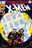 Uncanny X-Men No.141 Cover: Wolverine, Pryde and Kitty Charging Poster af John Byrne