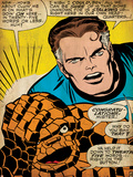 Marvel Comics Retro: Fantastic Four Comic Panel, Thing, Mr. Fantastic (aged) Posters