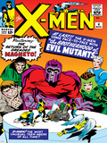 Marvel Comics Retro: The X-Men Comic Book Cover No.4, Scarlet Witch, Quicksilver, Toad, Magneto Prints