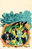 X-Men Giant-Size No.1 Cover: Cyclops, Beast, Marvel Girl, Iceman, and Angel Poster by Ed McGuinness