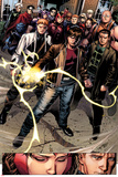 Avengers: The Childrens Crusade No.7: Rictor, Shatterstar, Madrox, Strong Guy, and Scarlet Witch Posters by Jim Cheung