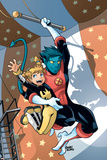 X-Men Power Pack No.3 Cover: Nightcrawler and Energizer Poster by  Gurihiru