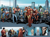 House of M MGC No.1: Captain America, Carol Danvers, Wonder Man, Professor X, Iron Man and Others Posters by Olivier Coipel