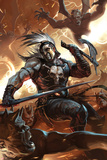 Chaos War: Ares No.1 Cover: Ares Fighting Affiches par Marko Djurdjevic