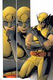 X-Men: Prelude To Schism No.4: Panels with Wolverine in Thought Print by Clay Mann