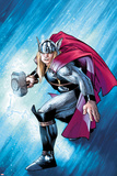 The Mighty Thor No.12.1 Cover: Thor with Mjonir Poster by Olivier Coipel