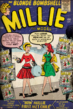 Marvel Comics Retro: Millie the Model Comic Book Cover No.100, How Millie First Met Chili! (aged) Prints