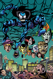 Spider-Girl: The End! No.1: Mayhem in a Web above a Crowd Posters by Sal Buscema