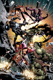 New Avengers No.22: Skaar Fighting Poster by Mike Deodato