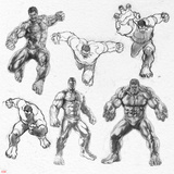 The Avengers: Age of Ultron - Hulk Character Sketches Print