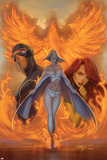 What if Astonishing X-Men No.1 Cover: Emma Frost, Phoenix and Cyclops Posters par J. Scott Campbell
