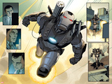 Iron Man 2.0 No.2: Panels with War Machine Flying Prints by Salvador Larroca
