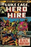 Marvel Comics Retro: Luke Cage, Hero for Hire Comic Book Cover No.5, Black Mariah! (aged) Prints