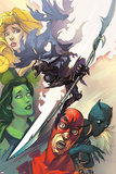 Infinity: the Hunt 1 Cover: She-Hulk, Ant-Man, Shuri, Black Panther, Meggan, Glaive, Corvus Print by Slava Panarin