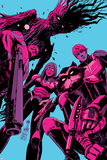 Guardians of the Galaxy #8 Cover: Groot, Drax, Gamora, Rocket Raccoon, Star-Lord Plakaty autor Francesco Francavilla