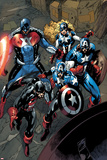 Captain America Corps No.2: U.S. Agent, Captain America, American Dream, and Commander A Photo by Phil Briones