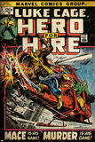 Marvel Comics Retro: Luke Cage, Hero for Hire Comic Book Cover No.3, Mace in Helicopter (aged) Prints