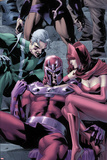 Magnetro: Not a Hero No.2 Cover: Magneto, Scarlet Witch, and Quicksilver Sitting Prints by Clay Mann