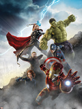 Thor, Hulk, Captain America, Hawkeye, and Iron Man from The Avengers: Age of Ultron Plakaty