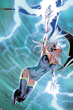 X-Men No.22: Storm Flying, Expelling Lightning and Energy Prints by Will Conrad