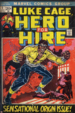 Marvel Comics Retro: Luke Cage, Hero for Hire Comic Book Cover No.1, Origin (aged) Prints