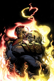 Ghost Rider No.4 Cover: Ghost Rider Hugging, Kissing, and Flaming Print by Adam Kubert