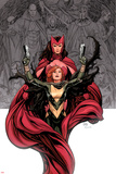 Avengers Vs. X-Men No.0 Cover: Hope Summer and Scarlet Witch Prints by Frank Cho