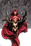Avengers Vs. X-Men No.0 Cover: Hope Summer and Scarlet Witch Affischer av Frank Cho
