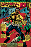Marvel Comics Retro: Luke Cage, Hero for Hire Comic Panel, Screaming (aged) Poster