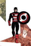 Captain America Corps No.3 Cover: Captain America Walking with his Shield Photo by Phil Jimenez