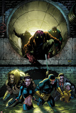 X-Men Forever 2 No.5 Cover: Sabretooth, Kitty Pryde, Cyclops, Storm, and Gambit Walking Prints by Tom Grummett