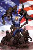 Steve Rogers: Super-Soldier No.2 Cover: Steve Rogers Posters by Carlos Pacheco