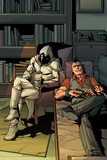 Daken: Dark Wolverine No.13 Cover: Daken and Moon Knight Sitting Poster by Giuseppe Camuncoli
