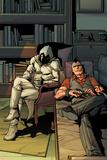Daken: Dark Wolverine No.13 Cover: Daken and Moon Knight Sitting Poster by Giuseppe Camuncoli