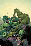 Incredible Hulk No.4 Cover: Hulk Fighting Posters by Leinil Francis Yu