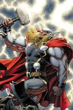 The Mighty Thor No.11 Cover: Thor Standing with Mjonir Reprodukcje autor Dale Keown