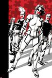 Ultimate Comics X-Men 27 Cover: Pryde, Kitty, Storm, Hudson, Jimmy, Blackheath Poster by Dave Johnson