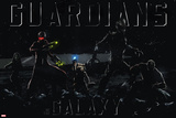 Guardians of the Galaxy - Rocket Raccoon, Drax, Star-Lord, Gamora, Groot Photo