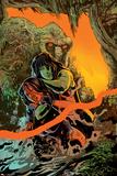 Red She-Hulk 66 Cover: Red She-Hulk, She-Hulk, Man-Thing Prints by Francesco Francavilla
