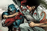 Avengers No.22 Cover: Captain America and Gorgon Fighting Photo by Stuart Immonen