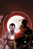 Invincible Iron Man No.503 Cover: Iron Man and Tony Stark Print by Salvador Larroca