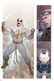 Iron Man 2.0 No.7: Panels with Iron Fist Posters af Ariel Olivetti
