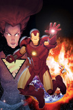 Iron Age: Alpha No.1 Cover: Iron Man in front of a Planetary Explosion Poster af Ariel Olivetti