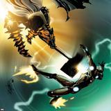 Invincible Iron Man No.505 Cover: Iron Man and Grey Gargolye Fighting Posters by Salvador Larroca