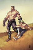 Secret Warriors No.22: Ares and Phobos Standing Kunstdrucke von Alessandro Vitti